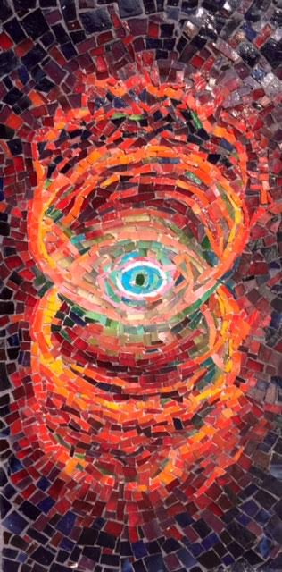 """HOURGLASS NEBULA"" by Larissa Strauss, 8"" x 16,"" 2010, Sold."