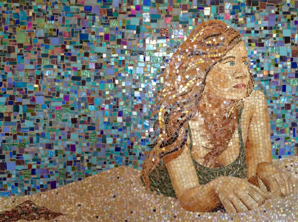 """ON THE BEACH"" by Larissa Strauss, 48"" x 32,"" 2004."