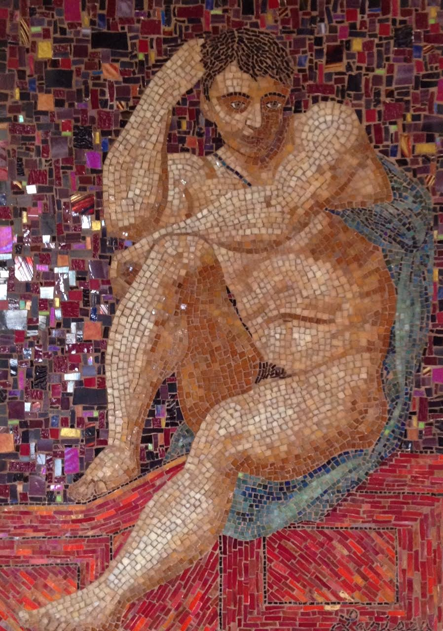 """ROMAN MAN"" by Larissa Strauss, 38″ x 28,"" 2003, Commissioned."