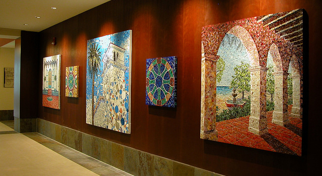 Cottage Hospital Wall Mosaics by Larissa Strauss, Commissioned by Cottage Hospital, 2011.